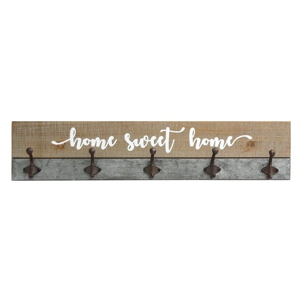 Stratton Home Decor Rustic Home Sweet Home Hooks - N/A