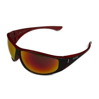 Bolle Highwood Mens Matte Black & Red w/ Polarized Fire Lens Sunglasses