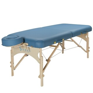 Sierra Comfort Deluxe Portable Massage Table Sky Blue