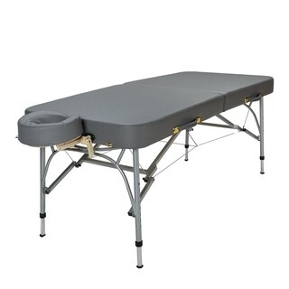 Sierra Comfort Sports Therapy Portable Massage Table Charcoal