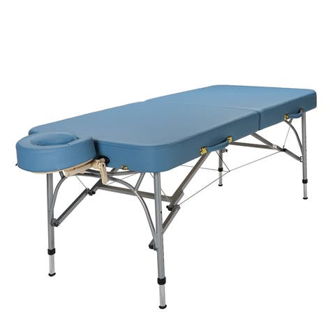 Sierra Comfort Sports Therapy Portable Massage Table Sky Blue