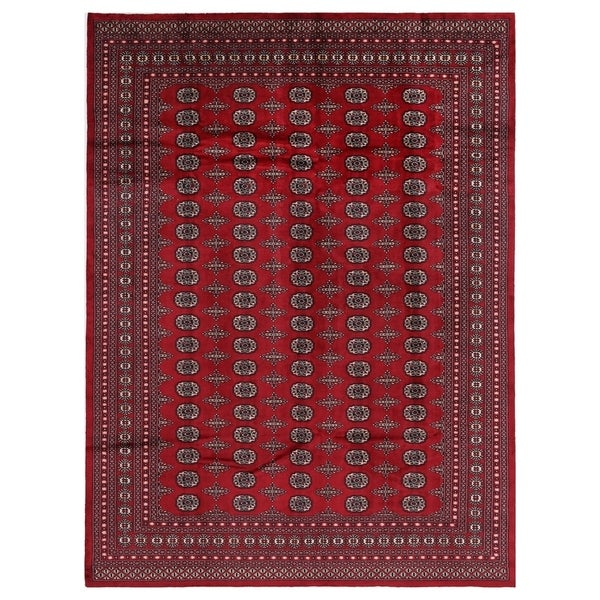 Shop Herat Oriental Pakistan Hand Knotted Bokhara Red: Shop Handmade Herat Oriental Pakistani Hand-knotted