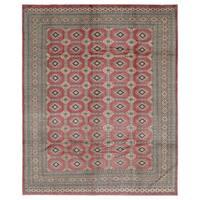 Handmade Herat Oriental Pakistani Hand-knotted Bokhara Wool Rug - 8'1 x 10' (Pakistan)