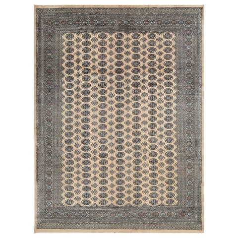 Handmade One-of-a-Kind Bokhara Wool Rug (Pakistan) - 9' x 12'1