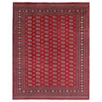 Handmade Herat Oriental Pakistani Hand-knotted Bokhara Wool Rug - 8' x 10' (Pakistan)