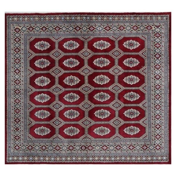 Handmade One Of A Kind Bokhara Wool Rug