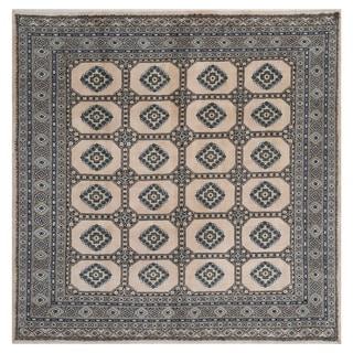 Handmade Bokhara Wool Rug (Pakistan) - 6'8 x 6'8
