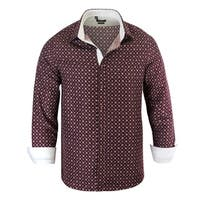 Rosso Milano Printed Flowers Mosern-Fit Dress Shirt