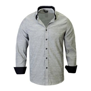 Rosso Milano Jacquared Pattern with Solid Contrasted shirt
