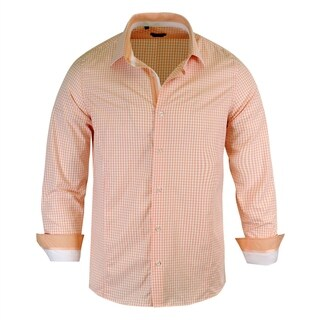 Rosso Milano Checked Pattern Modern-Fit Men's Shirt