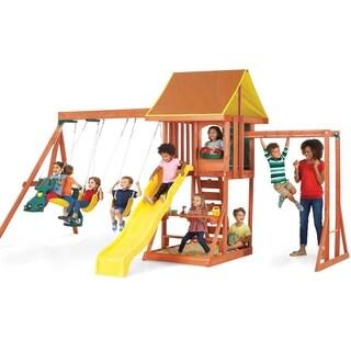 KidKraft Cedarbrook Wooden Playset Swing Set