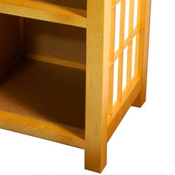 Handmade Shoji End Table with Shelves (China) - Thumbnail 2