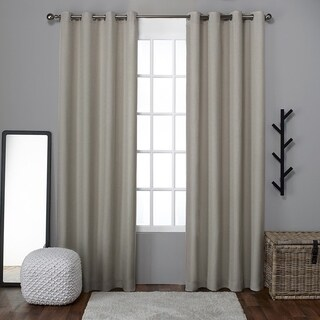 Clay Alder Home Sugar Creek Grommet Top Loha Linen Window Curtain Panel Pair