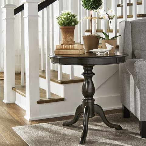 Beckett Antique Wood Pedestal Accent Table by iNSPIRE Q Classic - 54 x 84