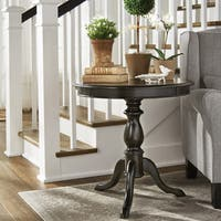 Beckett Antique Wood Pedestal Accent Table by iNSPIRE Q Classic