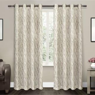 ATI Home Oakdale Textured Linen Sheer Grommet Top Curtain Panel Pair