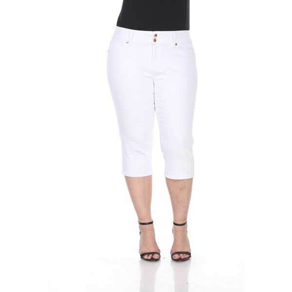 3aa1c84a83ce7 Shop White Mark Plus Size Super Stretch Capri Denim - On Sale - Free ...