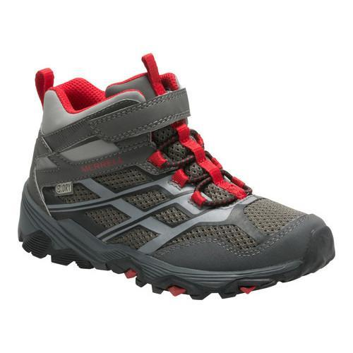 ccda240f2a Shop Boys' Merrell Moab FST Mid A/C Waterproof Hiking Boot Kid Grey/Red  Waterproof Synthetic - Free Shipping Today - Overstock - 18950755
