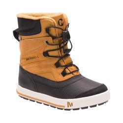 Boys' Merrell Snow Bank 2.0 Waterproof Boot Kid Wheat/Black Leather