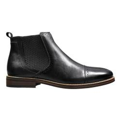 Men's Stacy Adams Alomar Cap Toe Chelsea Boot 25129 Black Antiqued Leather (More options available)