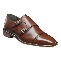 Men's Stacy Adams Rycroft Monk Strap Cognac Leather