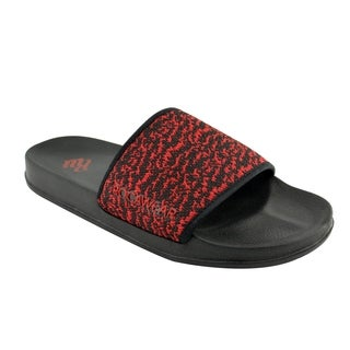 Akademiks Slides Fashion Sandals for Men with Knit Pattern for Beach, Pool