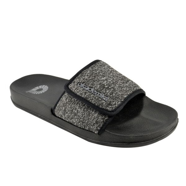 d1e0b60db Akademiks Men's Slides Sandals - Knit Pattern & Adjustable Velcro Strap.  Breadcrumbs