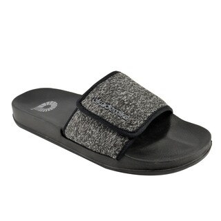 Akademiks Men's Slides Sandals - Knit Pattern & Adjustable Velcro Strap
