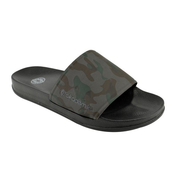 ee60c0ddc603 Shop Akademiks Slides Camouflage Fashion Sandals for Men for Beach ...