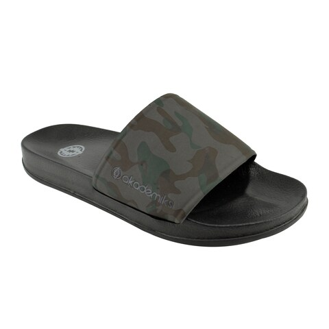 Akademiks Slides Camouflage Fashion Sandals for Men for Beach, Pool, Shower