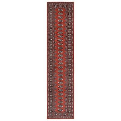 Handmade One-of-a-Kind Bokhara Wool Rug (Pakistan) - 2'6 x 11'4