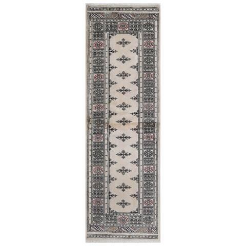 Handmade One-of-a-Kind Bokhara Wool Rug (Pakistan) - 2'6 x 7'9