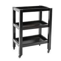 Master Massage Wooden Trolley 3-Shelf Black