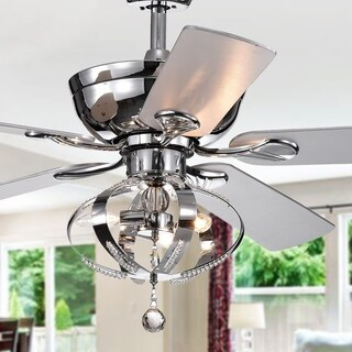 Tatiana 52-inch Ceiling Fan with 3-Light Royal Chandelier (Remote Controlled)