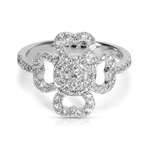 Diamond Ring in 18KT White Gold (0.6 CTW)