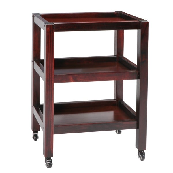Master Massage Wooden Trolley 3-Shelf Walnut