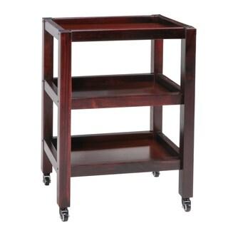 Master Massage Wooden Trolley 3-Shelf Walnut
