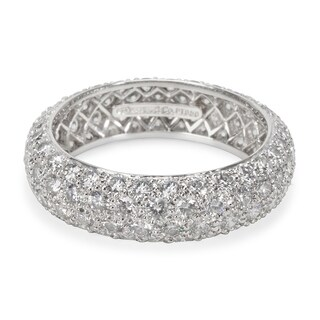 Pre-Owned Tiffany & Co. Etoile 4 Rows Pave Diamond Ring in Platinum 2.90 Carats