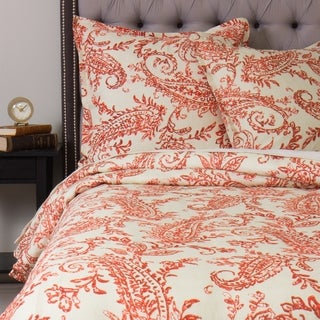 Sierra Orange Paisley Duvet Cover Set