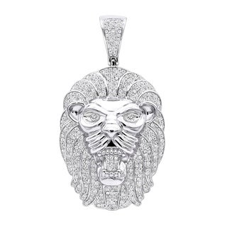7fae20052cc Shop Luxurman Solid 10K Gold Star of David Diamond Pendant for Men ...