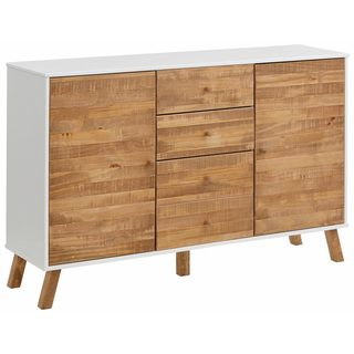 Rafael 2 Door 4 Drawer Sideboard, solid pine, off white / natural