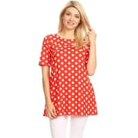 Women's Polka Dot Short Sleeve Shirt