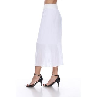 White Mark Women's Pleated Midi Skirt (More options available)