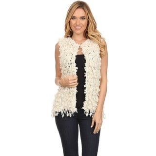 High Secret Women's Ivory Casual Vest Chunky Knit
