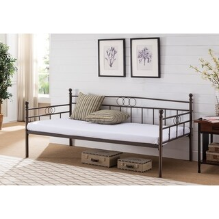 Nickel-finished Pewter Metal Daybed