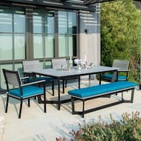 Corvus Orville 6-piece Outdoor Dining Set with Wood Table Top