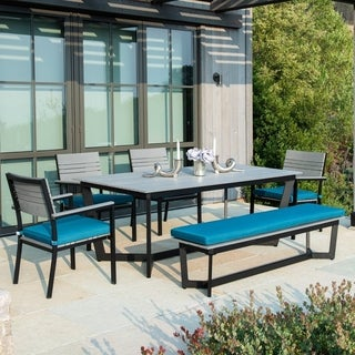 Corvus Orville 6-piece Outdoor Dining Set with Wood Table Top (3 options available)