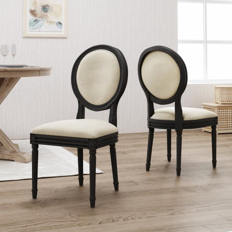 Hiro Traditional Fabric Dining Chairs by Christopher Knight Home