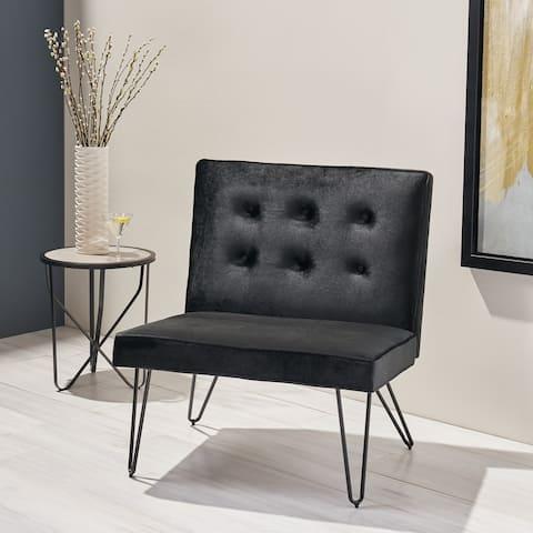 Darrow Glam Modern Velvet Armless Chair by Christopher Knight Home