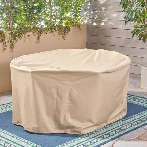 "Shield Outdoor 75"" Round Waterproof Dining Set Cover by Christopher Knight Home"